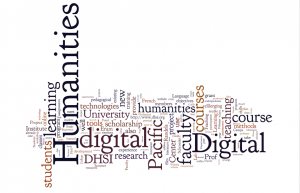 Word Cloud of grant applications for digital pedagogy