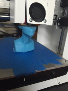 Nefertiti bust in midst of printing