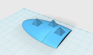 3d sketch of Great Pyramids in 123D Design #2