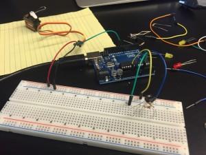 sensor and servo